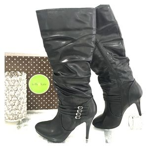 Kelly &Katie faux leather high heeled boots